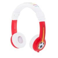 Детски слушалки BuddyPhones EXPLORE – 3.5 мм жак, червени