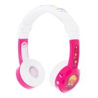 Детски слушалки BuddyPhones INFLIGHT – 3.5 мм жак, розови